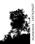 black tree silhouette. card... | Shutterstock .eps vector #1457629637