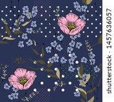 vintage botanical design with... | Shutterstock .eps vector #1457636057