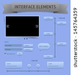 user interface elements. raster ...
