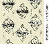 seamless pattern nature vector... | Shutterstock .eps vector #1457648084