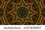 abstract kaleidoscope... | Shutterstock . vector #1457650097