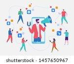 influencer marketing. potential ... | Shutterstock .eps vector #1457650967