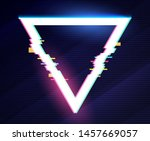 geometric triangle banner with... | Shutterstock .eps vector #1457669057