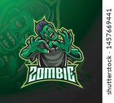 zombie undead mascot logo design   Shutterstock .eps vector #1457669441