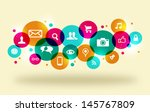 social media icons set in... | Shutterstock .eps vector #145767809
