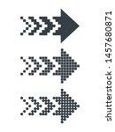 set of black abstract pixel web ... | Shutterstock .eps vector #1457680871