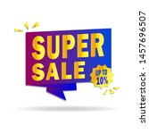 sale banner template design.... | Shutterstock .eps vector #1457696507