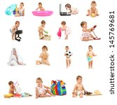 baby collage | Shutterstock . vector #145769681