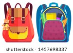 colored school backpack.... | Shutterstock .eps vector #1457698337