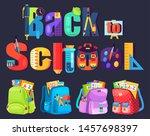 colored school backpack.... | Shutterstock .eps vector #1457698397