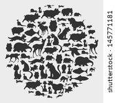 Stock vector animal circle pattern 145771181