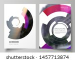 vector layout of a4 format... | Shutterstock .eps vector #1457713874