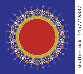 arabic floral frame.... | Shutterstock .eps vector #1457716337