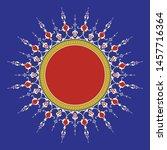 arabic floral frame.... | Shutterstock .eps vector #1457716364
