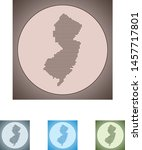 vector map of the new jersey | Shutterstock .eps vector #1457717801