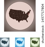 vector map of the new jersey | Shutterstock .eps vector #1457717804