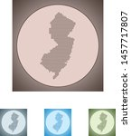 vector map of the new jersey | Shutterstock .eps vector #1457717807