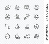 icons set of no artificial ... | Shutterstock .eps vector #1457719337