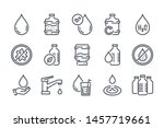 water related line icon set.... | Shutterstock .eps vector #1457719661