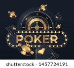 Casino Poker Cards And Roulett...