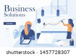 landing page template of... | Shutterstock .eps vector #1457728307