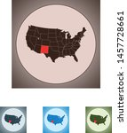 vector map of the new mexico | Shutterstock .eps vector #1457728661