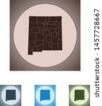 vector map of the new mexico | Shutterstock .eps vector #1457728667