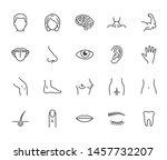 houman body parts flat line... | Shutterstock .eps vector #1457732207
