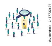 searching for candidate... | Shutterstock .eps vector #1457733674