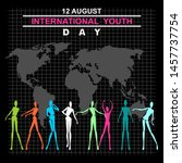 international youth day poster... | Shutterstock .eps vector #1457737754