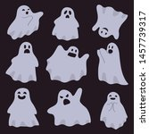 a group of ghosts isolated on a ... | Shutterstock .eps vector #1457739317
