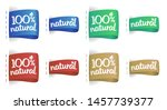 100  natural labels... | Shutterstock .eps vector #1457739377