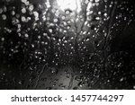 night blurred rain drops bokeh... | Shutterstock . vector #1457744297