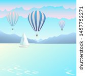 air balloons on background... | Shutterstock .eps vector #1457752271