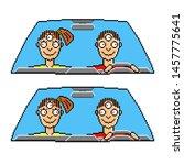 vector illustration yoga driver ... | Shutterstock .eps vector #1457775641