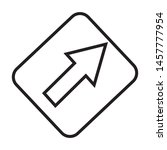arrow icon vector illustration... | Shutterstock .eps vector #1457777954
