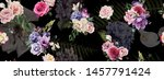 seamless floral pattern with... | Shutterstock . vector #1457791424