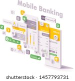 vector mobile internet banking...