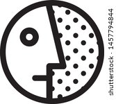 vector icon. round person icon | Shutterstock .eps vector #1457794844