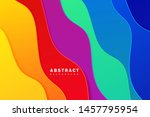 abstract paper futuristic wave... | Shutterstock .eps vector #1457795954