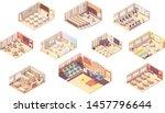 vector isometric school or... | Shutterstock .eps vector #1457796644