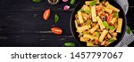 rigatoni pasta with chicken... | Shutterstock . vector #1457797067