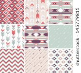 seamless geometric pattern in... | Shutterstock .eps vector #145779815