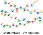 christmas lights. glowing... | Shutterstock .eps vector #1457803001