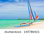catamaran at a resort in cayo... | Shutterstock . vector #145780421