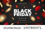 black friday sale banner... | Shutterstock .eps vector #1457805371