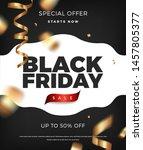 black friday sale poster... | Shutterstock .eps vector #1457805377