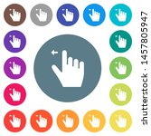 right handed move left gesture... | Shutterstock .eps vector #1457805947