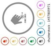 left handed scroll up gesture... | Shutterstock .eps vector #1457805971