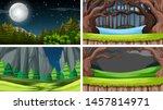 set of scenes in nature setting ... | Shutterstock .eps vector #1457814971